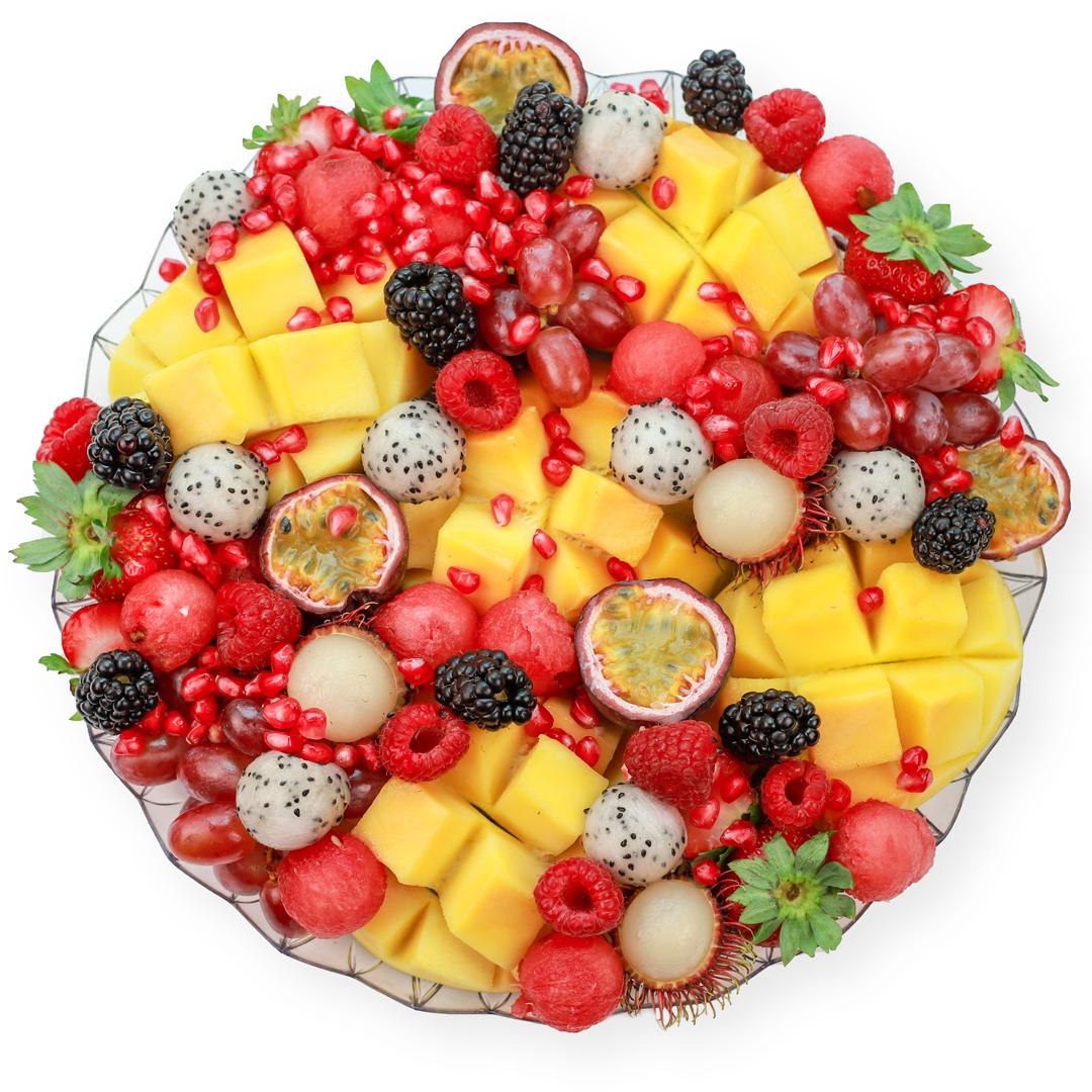 Mango Delight Platter - 30 cm transparent