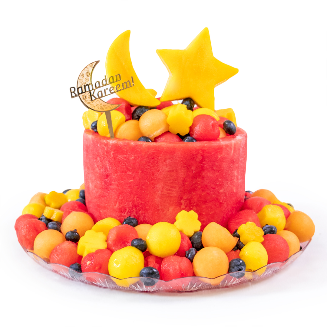 Ramadan Cake with Golden Topper Ramadan Kareem 1-tier