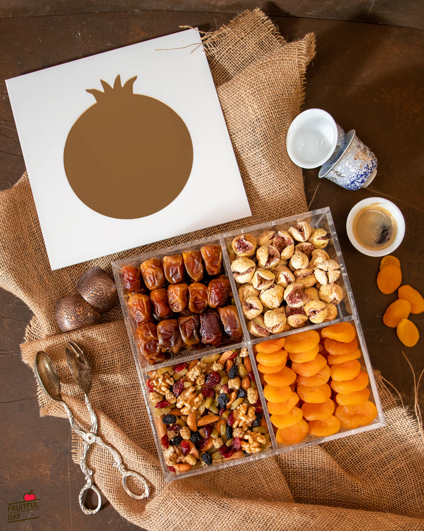 Premium Nuts and Dried Fruits Acrylic Gift Box