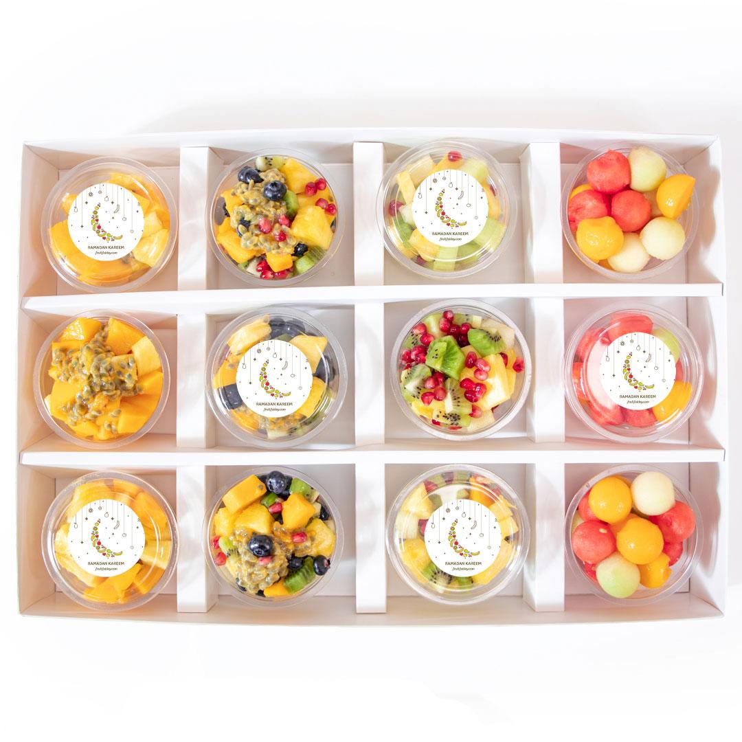 Ramadan Fruit Cup Selection - Box of 12