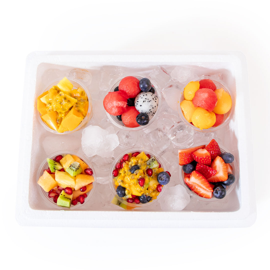 Mini Fruit Cup Party Box - Box of 6