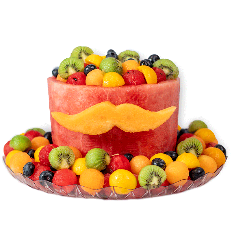 Mustache Cake 1-tier